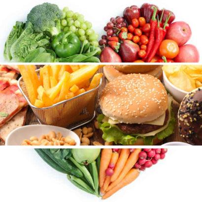 cibo spazzatura alimentazione povera